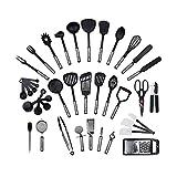 DHZYY Juego de utensilios de utensilios de utensilios de utensilios de utensilios de utensilios de cocina de 38 piezas, herramientas de cocina de espátula antiadherente, utensilio de cocina para horne