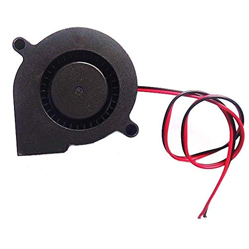 3D Printer Parts, 50mm 50mm 15mm 10PCS 24V DC 0.1A Blow Radial Cooling Fan for 3D Printer for Home Tools