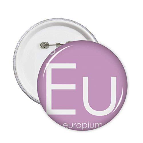 Chemistry Elements - Pin de la UE para mesa de periodo (5 unidades), diseño de Lanthanide Europium
