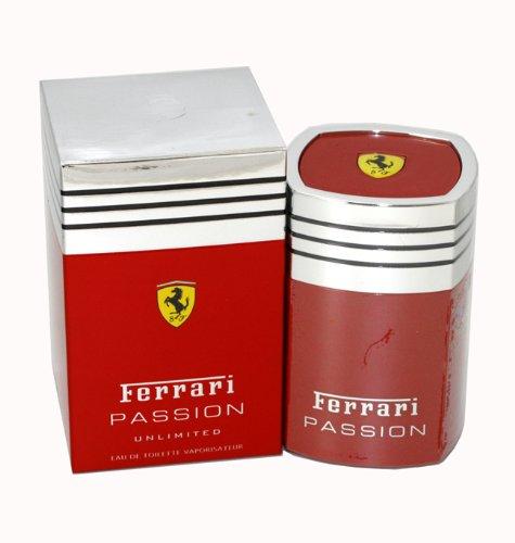 Ferrari Passion Unlimited by Ferrari for Men Eau De Toilette Spray, 1.7 Ounce