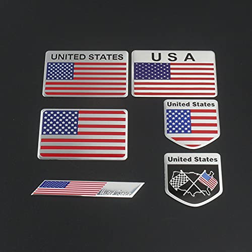NXCY01 - Adesivo in metallo 3D con bandiera degli Stati Uniti d'America, stemma Deutsch per auto, griglia paraurti, decorazione del corpo auto, 3D (nome colore: trasparente 30 ml)