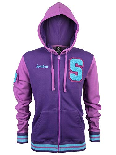JINX Overwatch Sombra Männer Kapuzenjacke lila XL 65% Baumwolle, 35% Polyester Esports, Fan-Merch, Gaming