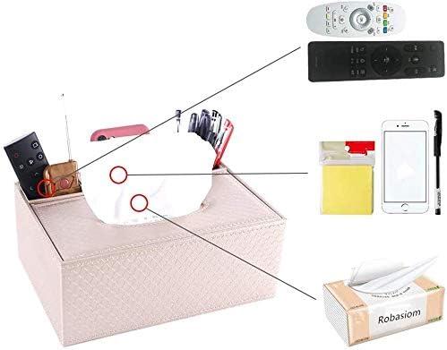Taschentuchbox Aufbewahrungsbox coffee Fernbedienung Bleistifte Niceen Multifunktions-Aufbewahrungsbox aus PU-Leder f/ür Stifte