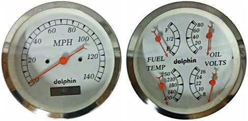 Amazon.com: Dolphin Gauges-3-3/8 Quad Electronic Gauge Sets - White:  Automotive   Speedometer Gauge Wiring Diagram      Amazon.com
