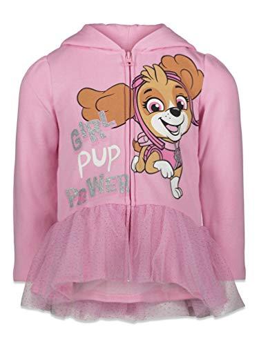Nickelodeon Paw Patrol Skye Toddler Girls Girls Zip-Up Hoodie Tulle Ruffles 2T Pink