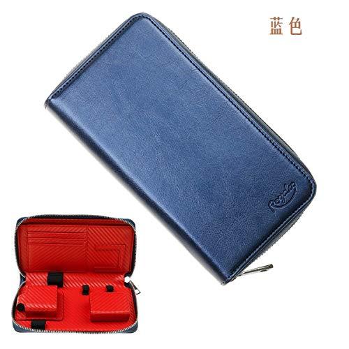 プルームテックプラス用の ケース PloomTECH ケース PloomSケース 収納 ケース 防水 大容量 スリム 電子タバコ 収納 ケース 撥水性 衛生 財布型 (ブルー)