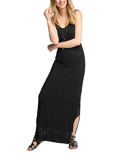 ESPRIT Damen 056EE1E021-im Romantik-Look Kleid, Schwarz (BLACK 001), 36 (Herstellergröße: S)