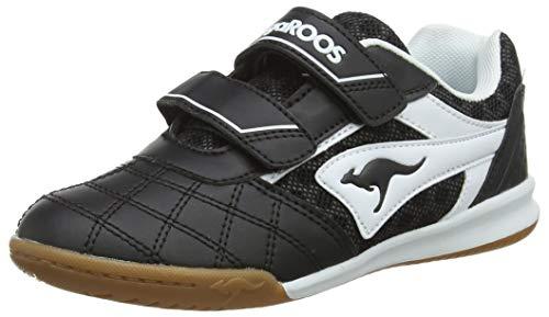 KangaROOS Power Comb V Unisex-Kinder Sneaker, Schwarz (Jet Black/White 5012), 32 EU