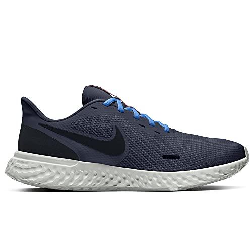 Nike Revolution 5, Zapatillas para Correr Hombre, Azul y Negro, 42.5 EU