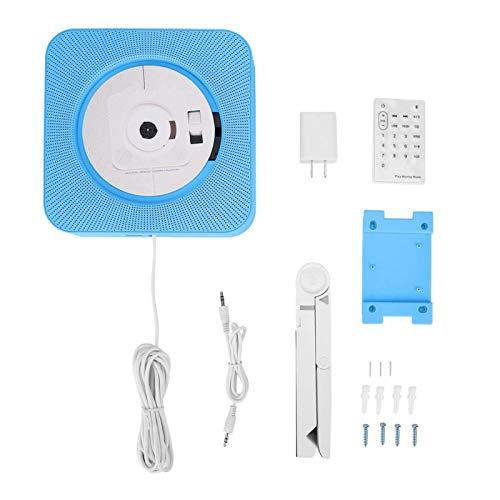 Ligero Compacto como Radio FM Reproductor de CD MP3 Reproductor de CD Simple y Elegante Radio, Compatible con Control Remoto, para el hogar, para el Tiempo Libre(Blue)