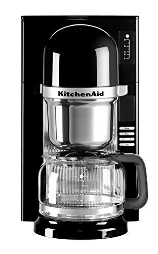 KitchenAid 5KCM0802EOB - Cafetera (Independiente, Espresso machine, De café molido, Negro, Acero inoxidable, De plástico, Acero inoxidable, 50/60 Hz)