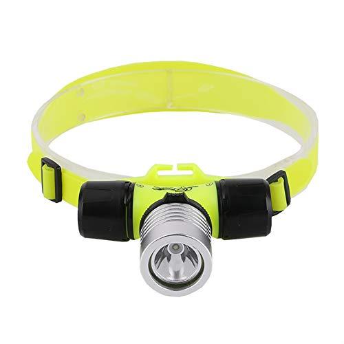 Linterna de cabeza de buceo suave para exteriores, resistente al agua, Xpe, LED, 2000 lúmenes, para buceo, para natación, camping