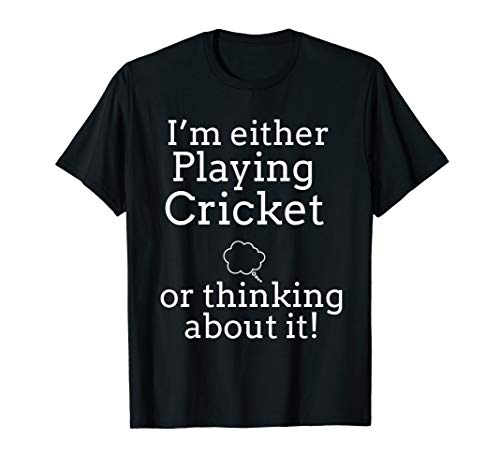 Think Cricket T Shirts. Gifts for Players who Play Cricket.