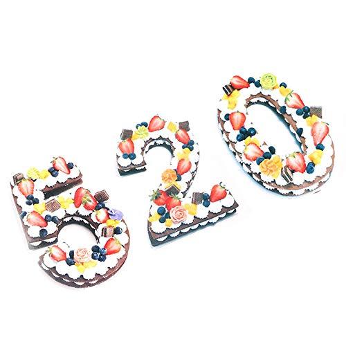Blusea 9-delige set, groot aantal vormen 0-9 cijfers, bruiloft, verjaardag, verjaardag, cakevormen, voor vullingen, gelaagd bakken en cake