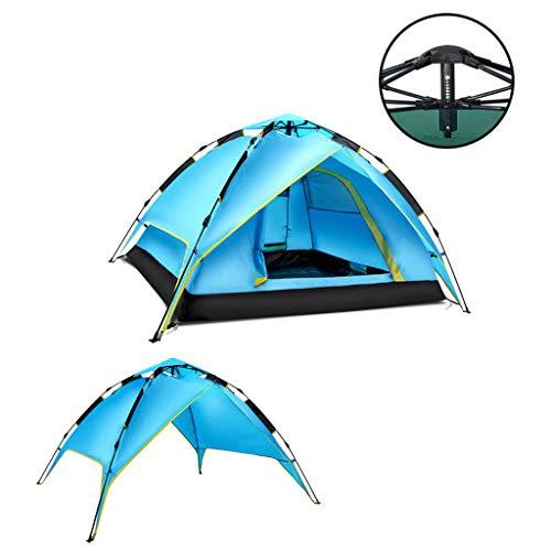 LI MING SHOP-Tents tentes l'extérieur 3–4 Personnes Automatique extérieur Tente Bleu Double Couche extérieure Tente de Camping imperméable Crème Solaire Multi-usages Tente + +