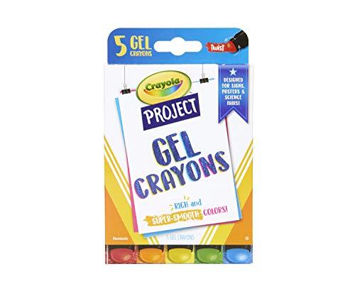 Crayola Gel Crayons, Assorted Colors, Art Supplies, 5 Count