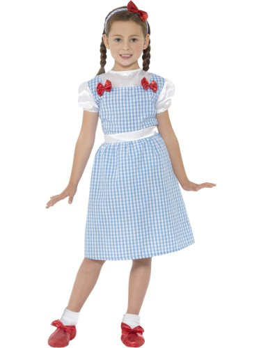 Smiffys Costume da Bambina Country, Blu con Vestito e Bandana