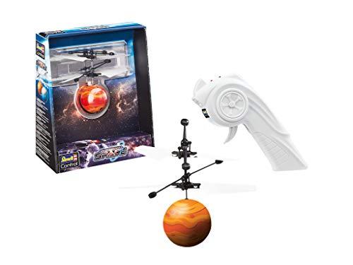 Revell Control 24977 RC CopterBall im Design des Mars, mit LED-Beleuchtung, Infrarot-Pistolenfernsteuerung, Akku, USB-Ladekabel Ferngesteuerter Fliegender Ball, Flyball, bunt