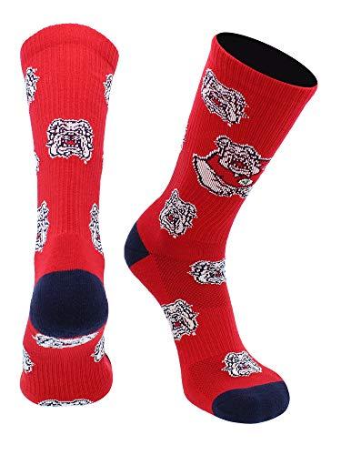 TCK Fresno State Bulldogs Socks Mayhem Crew Socks (Blue/Cardinal, Large)