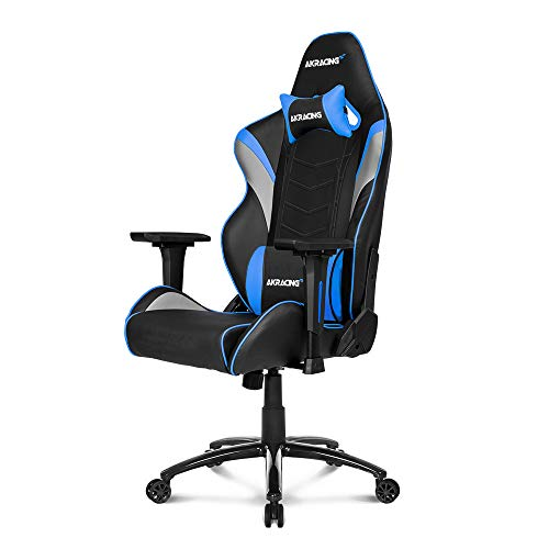 AKRacing Core Series LX Gaming Chair with High Backrest, Recliner, Swivel, Tilt, Rocker and Seat Height Adjustment Mechanisms with 5/10 Warranty - Blue