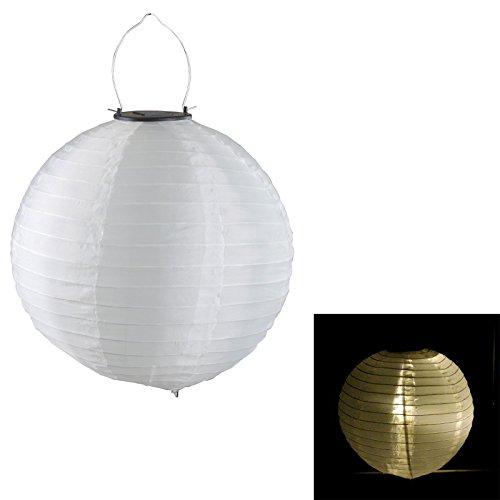 Cepewa 7098 LED Solar Lampion grau Ø 30 cm Nylon