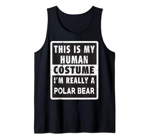 Disfraz de oso polar divertido disfraz de oso polar Camiseta sin Mangas