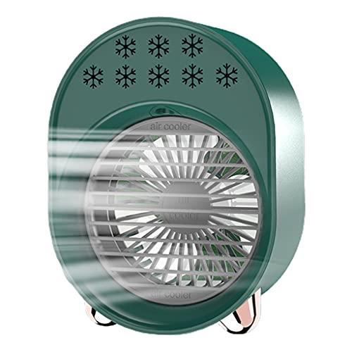 ColourQ Ventilador de refrigeración de aire portátil 3 en 1 W/luz nocturna Ventilador de refrigeración de agua purificación de aire humidificador ventilador de refrigeración