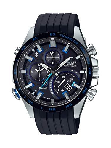 Casio Men's Edifice Stainless Steel Quartz Watch with Rubber Strap, Black, 22 (Model: EQB-501XBR-1ACF)