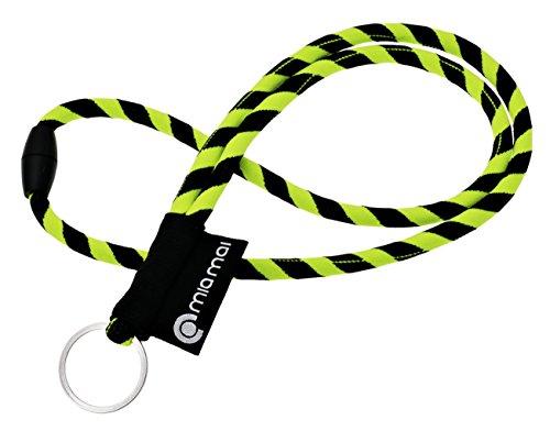 mia mai Tubular Lanyard (amarillo/negro, 45cm) Cordón de...