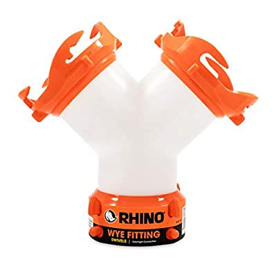 Camco RhinoFLEX RV Wye Fitting with 360 Degree Swivel Ends, Allows Sewer Hose and Lug Fittings Connection, Odor Protection (39812)