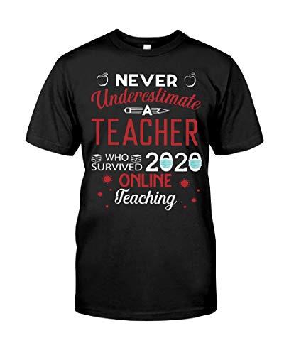 Never Underestimate A Teacher Who Survived 2020 Cor-onavirus Pandemic T Shirt, Teacher Graduation Gift, Teaching T Shirt