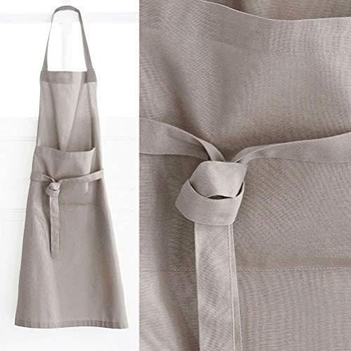 Today Tablier Coton Zinc Coton Gris 79 x 104 cm