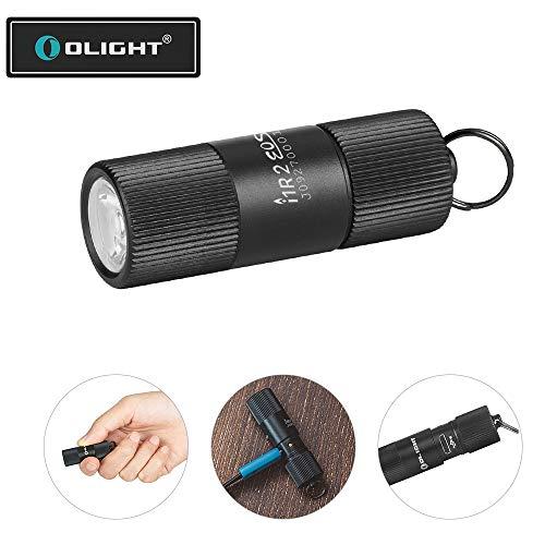 OLIGHT I1R 2 Eos Mini Taschenlampe für Schlüsselanhänger 150 Lumen Wiederaufladbarer EOS LED-Taschenlampe(OLIGHT I1R II ohne USB Kabel)