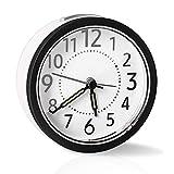 sanlinkee Reloj Despertador Analógico, Sin Tictac Reloj Despertador Silencioso Funciona con Pilas Despertador con Repetición y Luz Nocturna y manecillas Luminosas para Dormitorio Oficina
