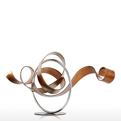 Tooarts Moderna Wriggle Viento Escultura de Hierro Decoración Interior y Exterior