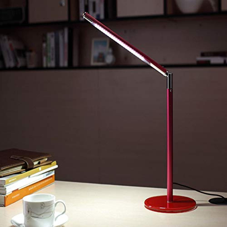 NHX Schreibtischlampe Falten Kreative Schlafzimmer Nachttischlesetisch Einfache Augen Pflege Weihnachtsbaum Dekoration Geschenk Neuheit Student Lernen USB Nachtlicht,rot