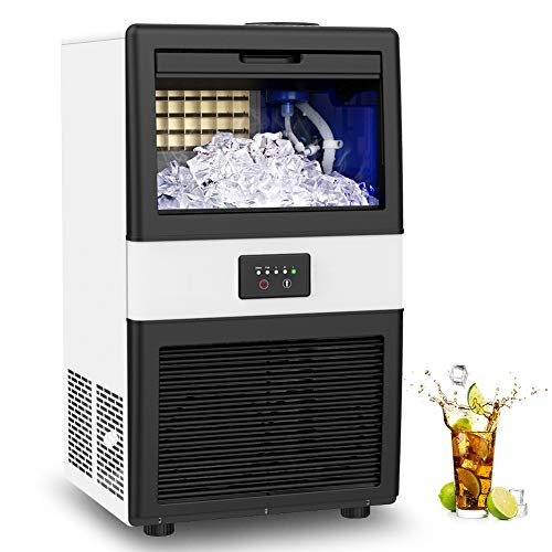 LifePlus Commercial Ice Maker Machine Under Counter Produce 70LBS of Ice in 24 Hrs with 10LBS Ice Bin Capacity Freestanding Automatic Ice Cube Maker Perfect for Bars Coffee Shops Home Office