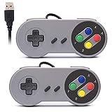 RetroK 2x Controller USB per SNES NES Games, Classic Retro USB Gamepad Joystick per Windows PC MAC e Raspberry Pi System