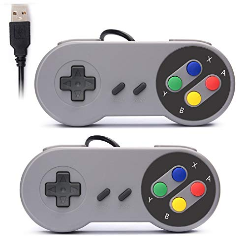 Digitalkey RetroK 2 x USB-controller voor SNES NES games, klassieke retro joystick USB gamepad voor Windows PC Mac en Raspberry Pi systeem
