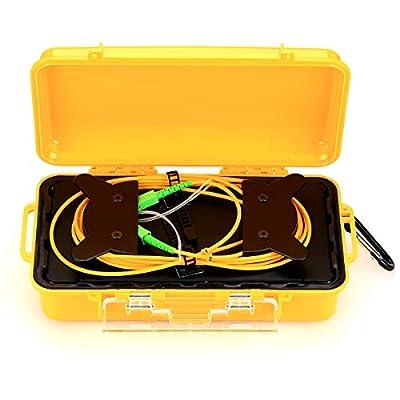 Fiber Optic Test Tool SC/APC SM?9/125?OTDR Launch Cable Box 1km Extension Cord OTDR
