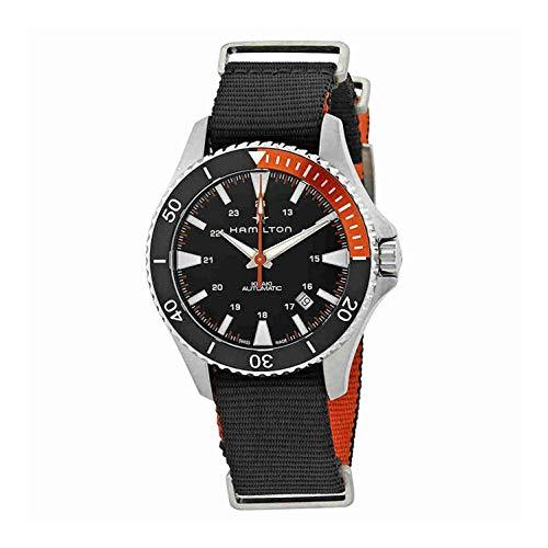 Hamilton Khaki Navy Black Dial Nylon Strap Men's Watch H82305931