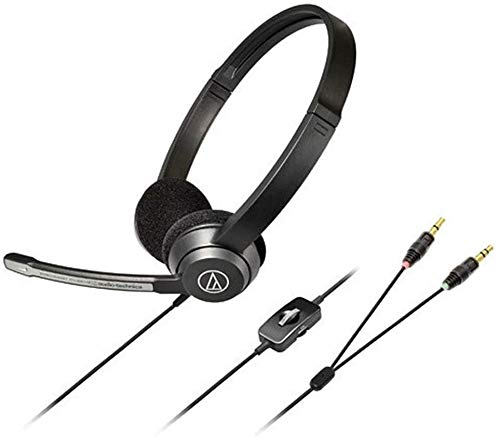 FHW Headset PC game headset Microfoon 3,5mm kabel Bass stereo eSports mini lichtgewicht microfoon (zwart) koptelefoon