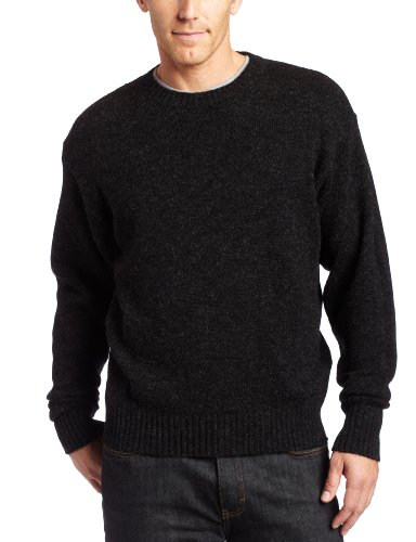 PENDLETON Men's Shetland Crew-Neck Sweater, Black Heather-63919, XL