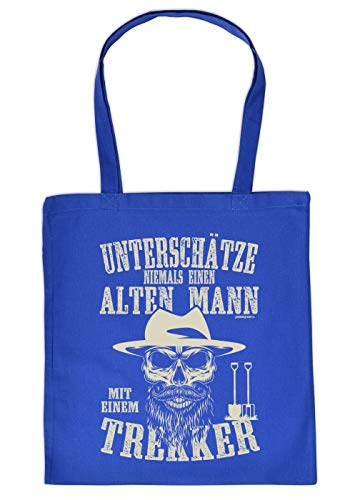 Boer boodschappentas als geschenk stoffen tas onderschatten nooit een oude man met een trekker verjaardagscadeau boer boer