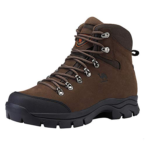 CAMEL CROWN Mens Hiking Boots Outdoor Trekking Backpacking Boot Mid Hiker Boot for Men...