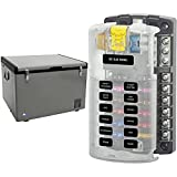 Whynter FM-65G 65 Quart Portable Refrigerator   AC 110V/ DC 12V   True Freezer for Car, Home, Camping, RV & Blue Sea Systems Fuse Block ST Blade 12 Circuit with Ground and Cover, 5026