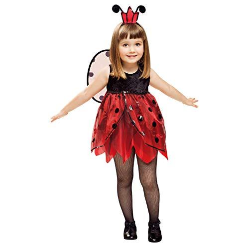 Desconocido My Other Me-201312 Insectos Disfraz de mariquita hada para niña, 1-2 años (Viving Costumes 201312)