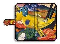 手帳型 スマホケース【世界の名画】 マルク ☆抽象画☆ art 名画 絵画 アート 美術 Google Pixel Xperia Galaxy AQUOS HUAWEI OPPO (arrows Be3, 黄色い牛)