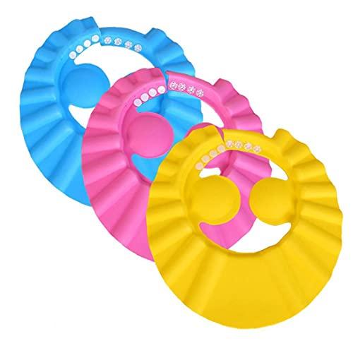 sevennine Baby Shower Cap Kids Ajustable Impermeable Pelo Lavado Escudo con Protectores de Oreja 3pcs SART SART