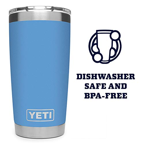 YETI Rambler 20 oz Tumbler, Stainless Steel, Vacuum Insulated with MagSlider Lid, Pacific Blue